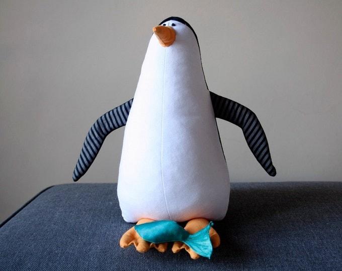Little Penguin Stuffed Antarctic Bird, Penguin Stuffie, Plush Cuddly Bird, Black&White Plushie