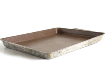 Small Cookie Sheet Brown Teflon Toaster Oven Tray