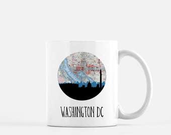 Washington DC skyline coffee mug | 11 oz ceramic mug | Washington dc mug | Washington DC map coffee mug | Washington DC mug | city mug