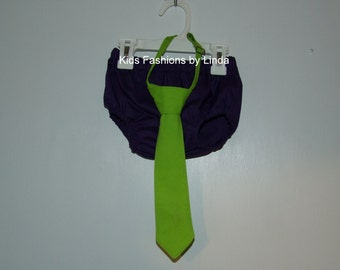 Lime Green Tie with Purple  Diaper Cover (Buzz Lightyear Inspired)