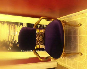 purple velvet accent chair
