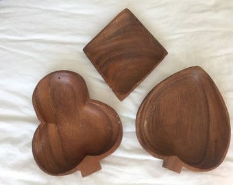 Vintage Wooden Bowl Set