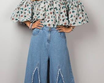 Paisley Top, Open shoulder top, Shoulderless top, off the shoulder top, off shoulder top, summer top, crop top, beach wear, festival outfit