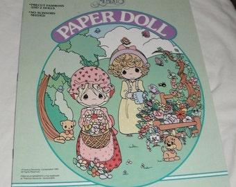 Golden Precious Moments Paper Doll Uncut