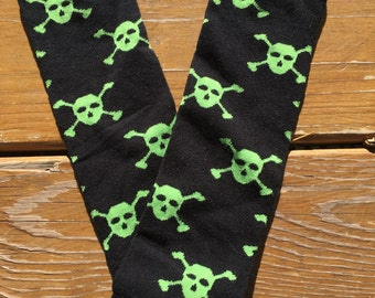 Skull Leg Warmers and Matching Headband