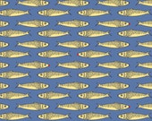 Fishline - Packed House Fish Blue by Kristen Berger from Maywood Studio