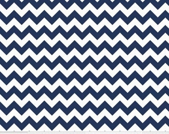 Small Chevron Navy FLANNEL F340-21 Navy from Riley Blake
