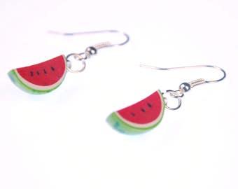 Melon earrings Miniblings watermelon fruit melons eighth-melon piece