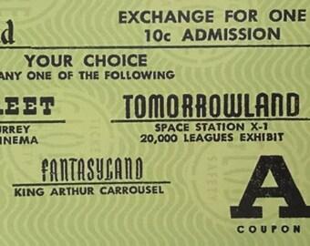 Disneyland  Ticket Replica Art