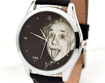 Einstein Tongue Watch | Albert Einstein | Women Watches | Funny Men's Watch | Graduation Gift | Teacher Appreciation Gift | Free Shipping