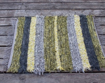 Yellow And Gray Rug Etsy