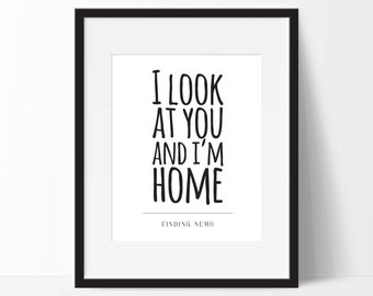 Disney Finding Nemo Print. Disney Movie Quote. Disney Typography Print. 8x10 on A4 Archival Matte Paper
