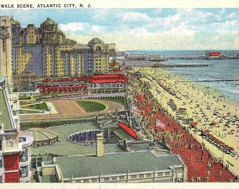 Atlantic City, New Jersey, Boardwalk - Vintage Postcard - Postcard - Unused (T)