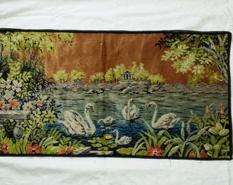 Vintage Velvet Pile tapestry wall Hanging Table Runner