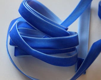 """5/8"""" Velvet Ribbon - Light Royal Blue - 4 yards"""