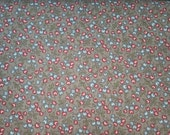 Petite Odile by French General  for Moda oop grey background with red and blue berries