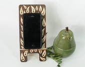 Cell Phone Stand. Tablet Stand. Docking Station. Phone Holder. Art. Mother's Day Gift. Kitchen Accessory. Charging Station. Birthday Gift.