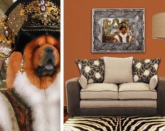 Chow Chow  Art CANVAS Print Fine Artwork of Nobility Dogs Dog Portrait Dog Painting Dog Art Dog Print