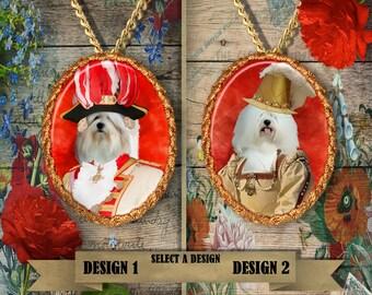 Coton de Tulear Jewelry. Coton de Tulear Pendant or Brooch. Coton de Tulear Necklace. Coton de Tulear Portrait. Custom Dog Jewelry.Handmade