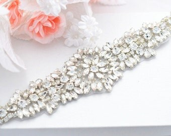 SALE VIVIAN SWARVOSKI Wedding Belt, Bridal Belt, Sash Belt, Crystal Rhinestones