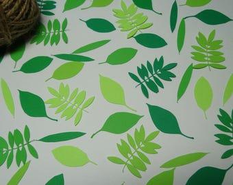 Leaf Confetti for Wedding, Birthday Party, Baby Shower, Centerpiece Table Decorations, Leaf Cutout, Greens