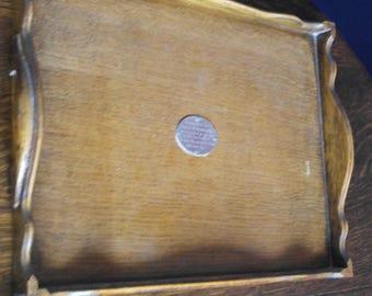 vintage oak wood drinks serving tray