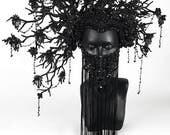 Black Flower Headdress Headpiece