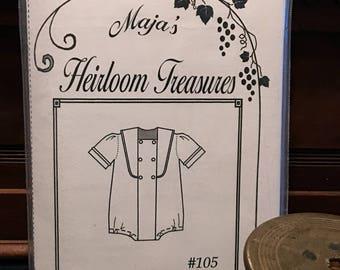 Maja's Heirloom Treasures Pattern - Aden John- Sizes 3months-3T
