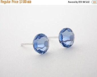 SALE Swarovski Crystal Stud Earrings, Crystal Earrings, Light Blue, Sapphire, Periwinkle, Soft Blue, Post Earrings, Bridesmaid Gifts, Weddin