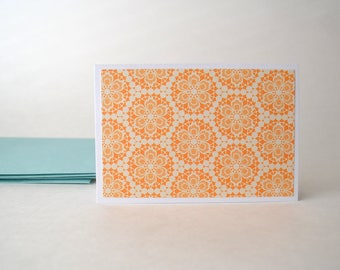 Folded Card Set  -Blank Note Cards - Stationary - Set of 4