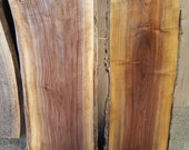 "Custom Walnut Bench on Black Steel Frames(3""flat)"