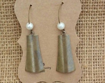 Antique Brass Bell Earrings