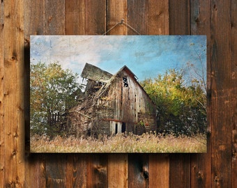 The Broken Autumn Barn - Old Barn photography - Old Barn - Autumn photography - Fall photography - Fall Barn photography