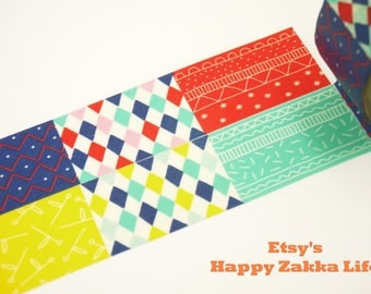 Happy Pattern - Aimez le Style - Japanese Washi Masking Tape - 28mm Wide - 7.6y - No Discount
