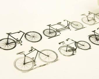 bicyclist - Japanese Washi Masking Tape - 30mm wide - 5.5 Yards