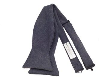 Bowtie - Denim wool Bowtie - Bow Tie