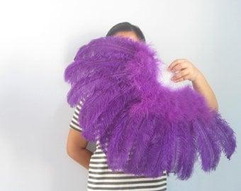 80*45cm Large   Burlesque Dance  feather fan Bridal Bouquet Purple, Pink, Hot Pink, white