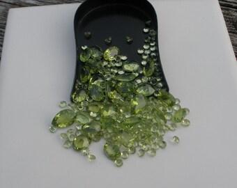 Peridot Gem Mix Parcel Lot Over 50 Carats