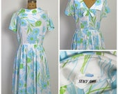 on sale 1950s Stacy Ames Floral Dress