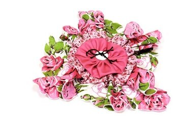 Hankie Fabric Flower Brooch, Shabby Floral Pin or Hair Clip, Original Handmade Textile Fiber Art Jewelry, Reusable Corsage itsyourcountry
