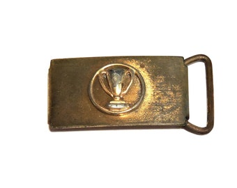 """Vintage Trophy Belt Buckle, Unisex Adult or Child Award 1"""" Buckle Replacement, Metal Hardware, Belt Findings, Upcycle itsyourcountry"""
