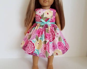 18 Inch Doll-American Girl Dress: Pretty Posies