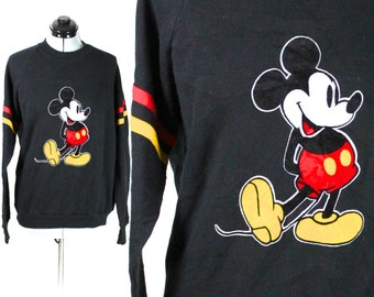 Vintage Black Mickey Mouse Disney Sweatshirt Medium