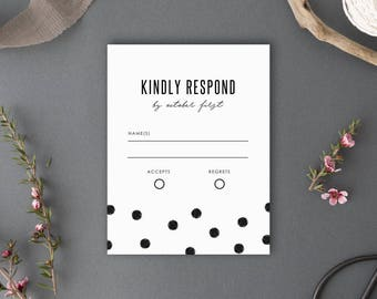 Printable RSVP Card, Response Card, Chelsea Collection