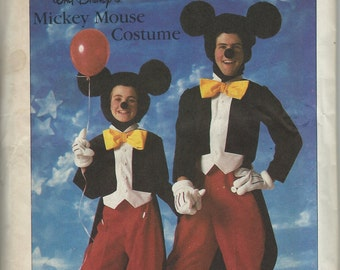 UNCUT Simplicity 7729 Disney Mickey Mouse Costume Pattern Adult Size Large