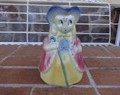 "vintage art pottery Shawnee USA Little Bo Peep 7"" pitcher kitsch Nursery rhyme retro"