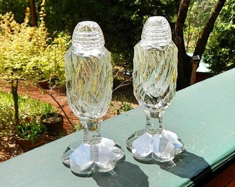 Salt and Pepper Shakers Vintage German Lead Crystal