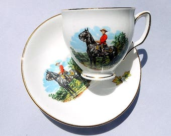 Royal Canadian Mounted Police Vintage Tea Cup and Saucer