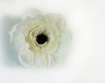 Ivory and black poppies for Alicia