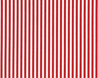 Two 26 x 26 Designer Decorative Pillow Covers/Euro Shams  100% Cotton - Red White Stripes